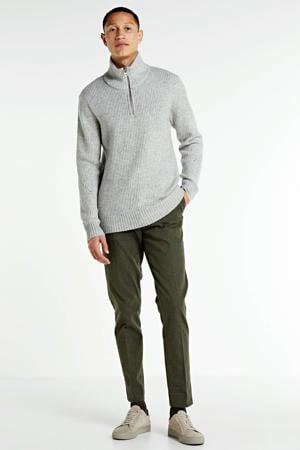 Mott regular fit pantalon legergroen