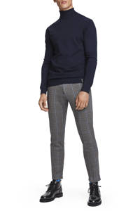 Scotch & Soda Mott geruite regular fit pantalon grijs/blauw, Grijs/blauw