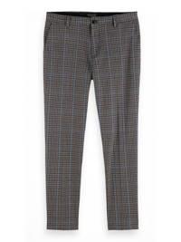 Scotch & Soda geruite regular fit pantalon grijs/blauw, Grijs/blauw