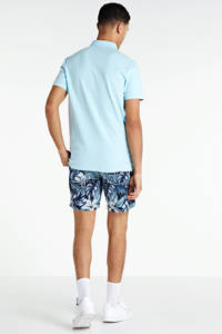 BOSS Casual slim fit polo lichtblauw, Lichtblauw