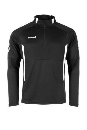 Junior  sportsweater Authentic 1/4 Zip zwart/wit