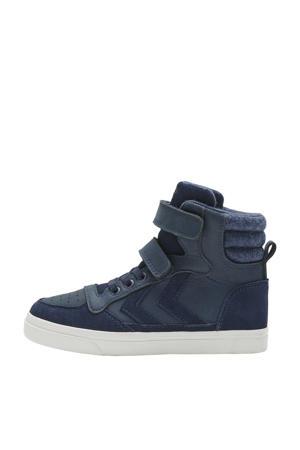 Stadil Winter Jr  suede met leren sneakers donkerblauw