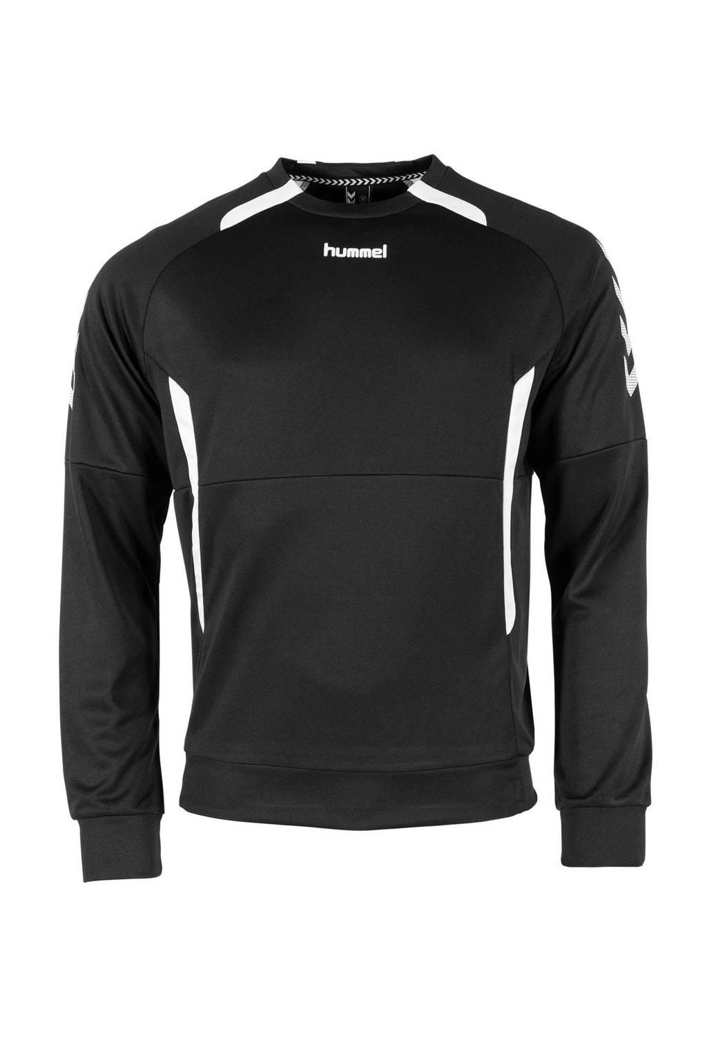 hummel Junior  sportsweater Authentic Top RN zwart/wit, Zwart/wit