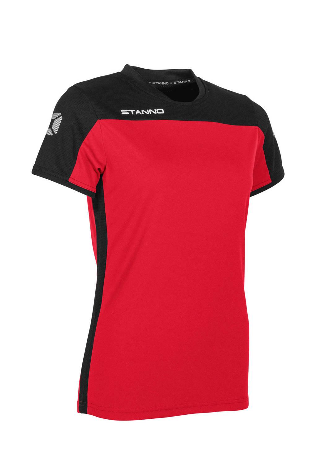 Stanno sport T-shirt rood/zwart, Rood/zwart