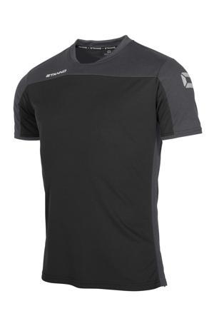 voetbalshirt zwart/antraciet