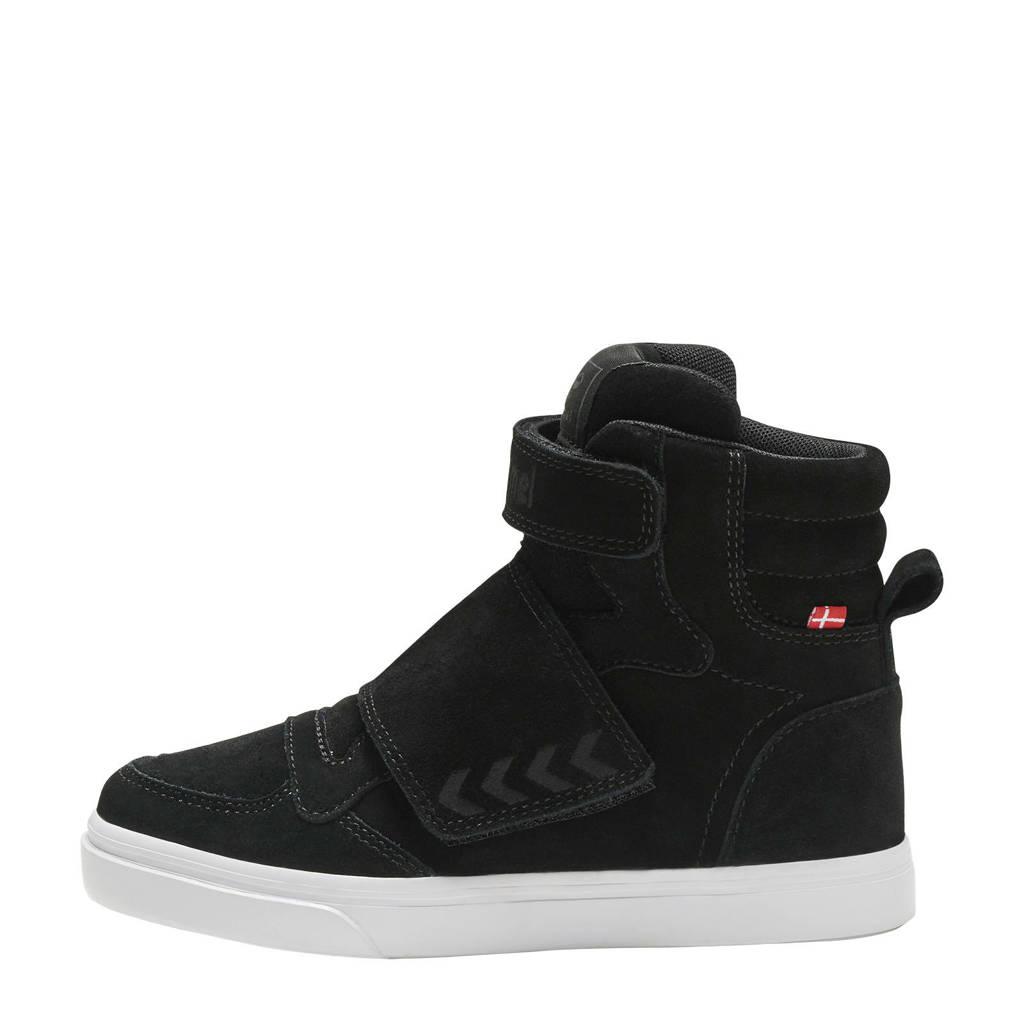 hummel Stadil Tonal Jr  suede sneakers zwart, Zwart