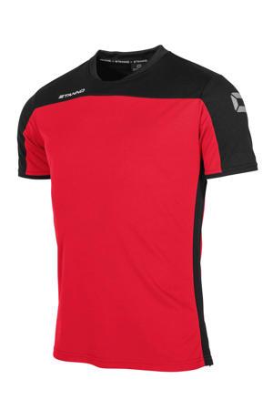 voetbalshirt rood/zwart