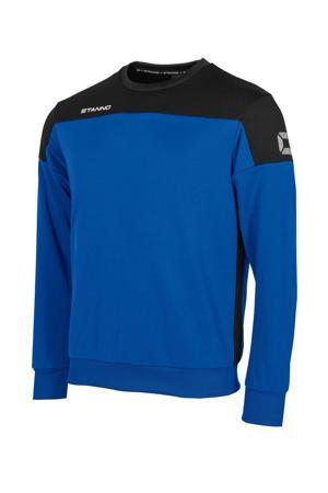 voetbalsweater blauw/zwart
