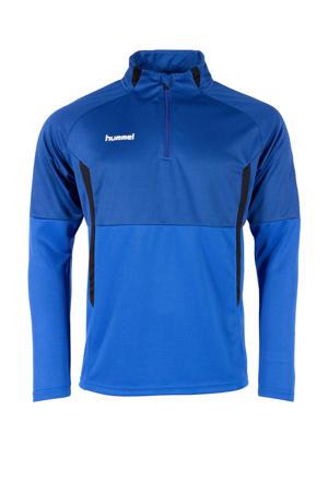 Junior  sportsweater Authentic 1/4 Zip kobaltblauw/zwart