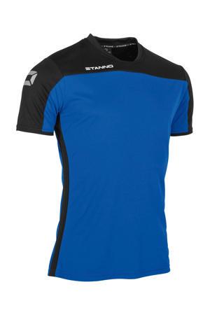 voetbalshirt blauw/zwart