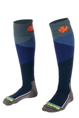 sportsokken donkerblauw/grijs