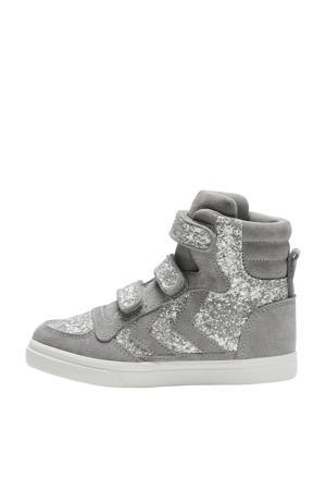 Slimmer Stadil Glitter Jr  suede sneakers met glitter grijs