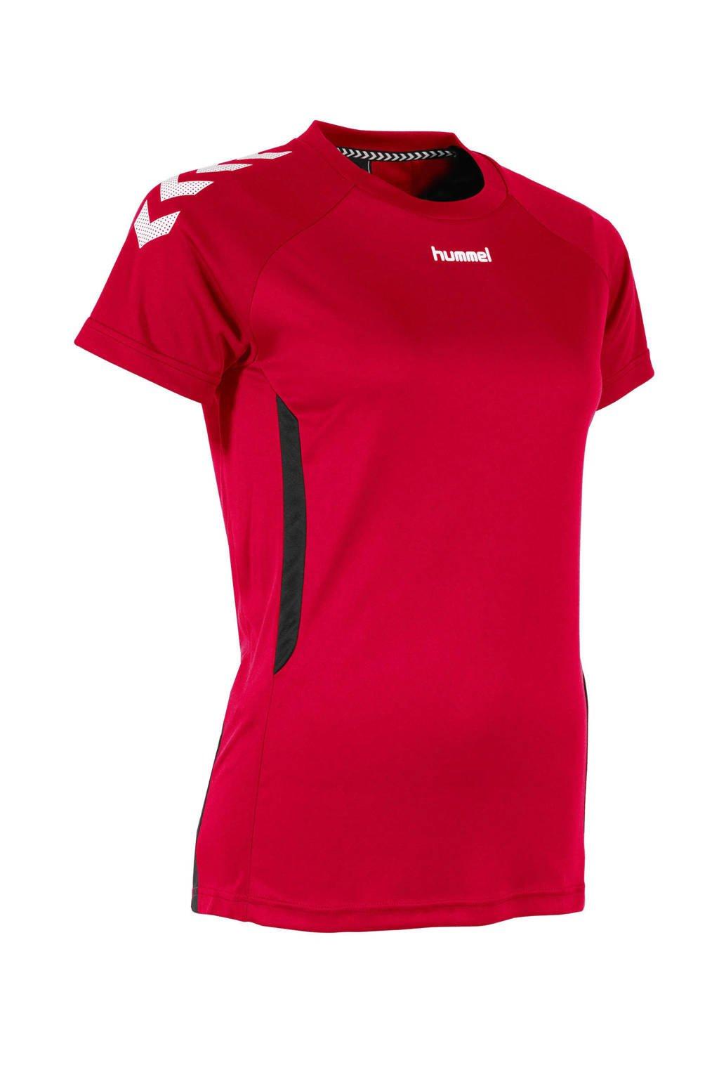 hummel voetbalshirt rood, Rood