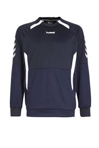hummel Junior  sportsweater Authentic Top RN donkerblauw/wit, Donkerblauw/wit