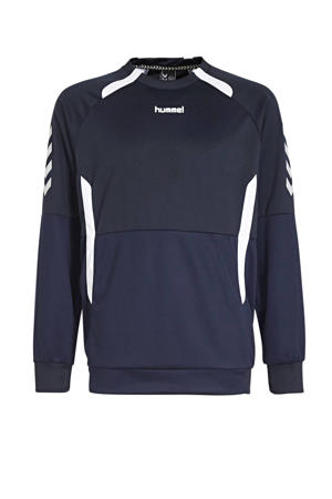 Junior  sportsweater Authentic Top RN donkerblauw/wit