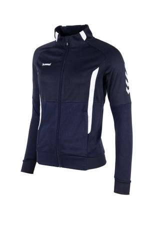 sportvest donkerblauw/wit
