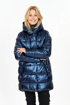 gewatteerde jas Kitara donkerblauw