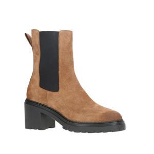 suède chelsea boots camel