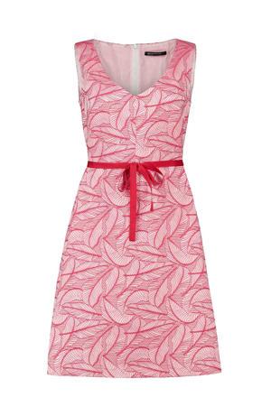 jurk met all over print kers rood
