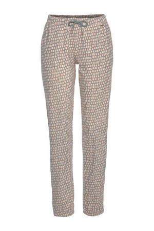 pyjamabroek met all over print grijs/roze