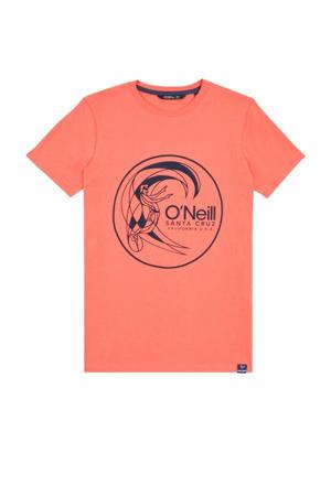 T-shirt Circle koraalrood