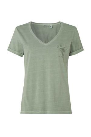 T-shirt Giulia olijfgroen