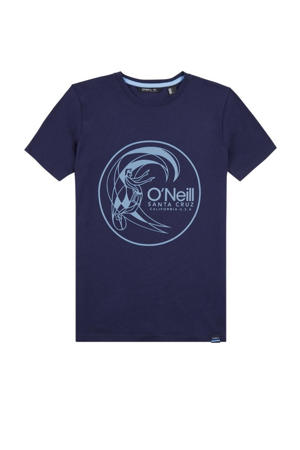 T-shirt Circle donkerblauw