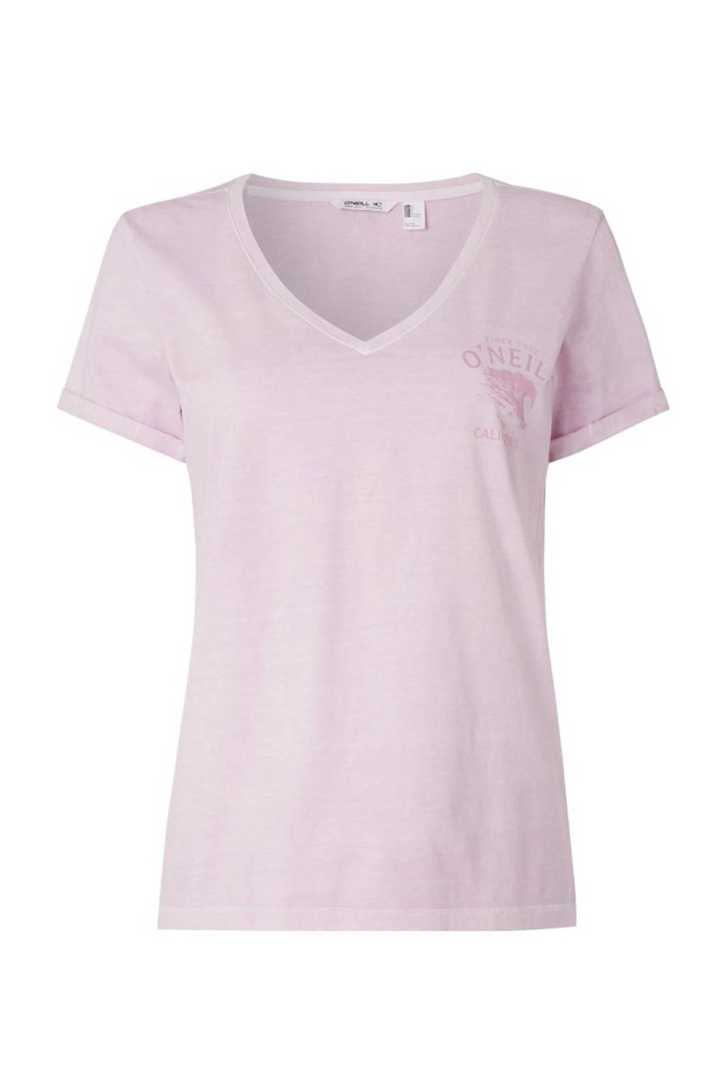 O'Neill T-shirt Giulia roze, Roze