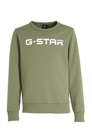 sweater Hodin met logo kaki groen