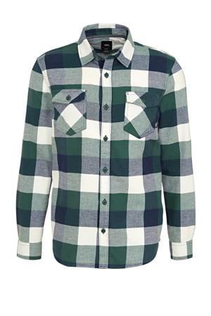 overhemd groen/donkerblauw