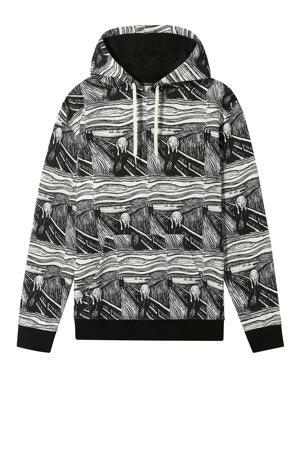 hoodie zwart/wit