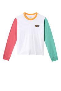 VANS T-shirt wit/roze/groen, Wit/roze/groen