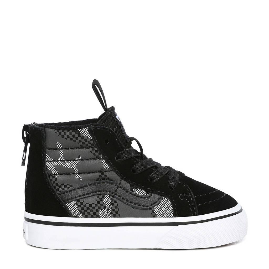VANS SK8-Hi Zip Camo sneakers zwart/grijs, Zwart/grijs