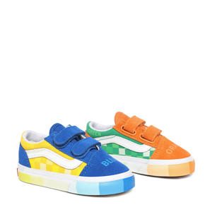 Old Skool V MoMA sneakers blauw/oranje/multi