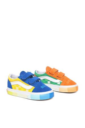 Old Skool V MoMA sneakers blauw/oranje/multi