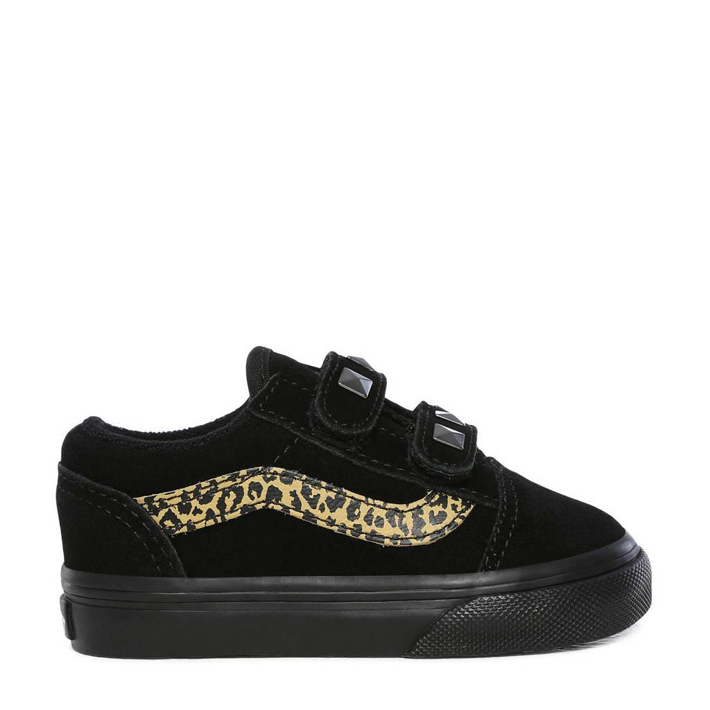 VANS Old Skool V V TD sneakers zwart/beige, Zwart/beige