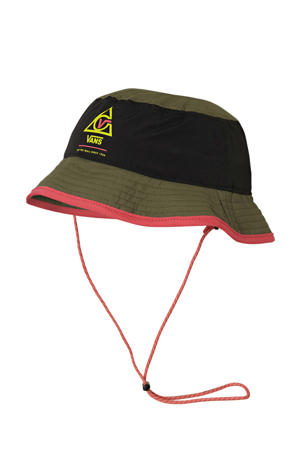 66 Supply Bucket hoed olijfgroen/zwart/roze