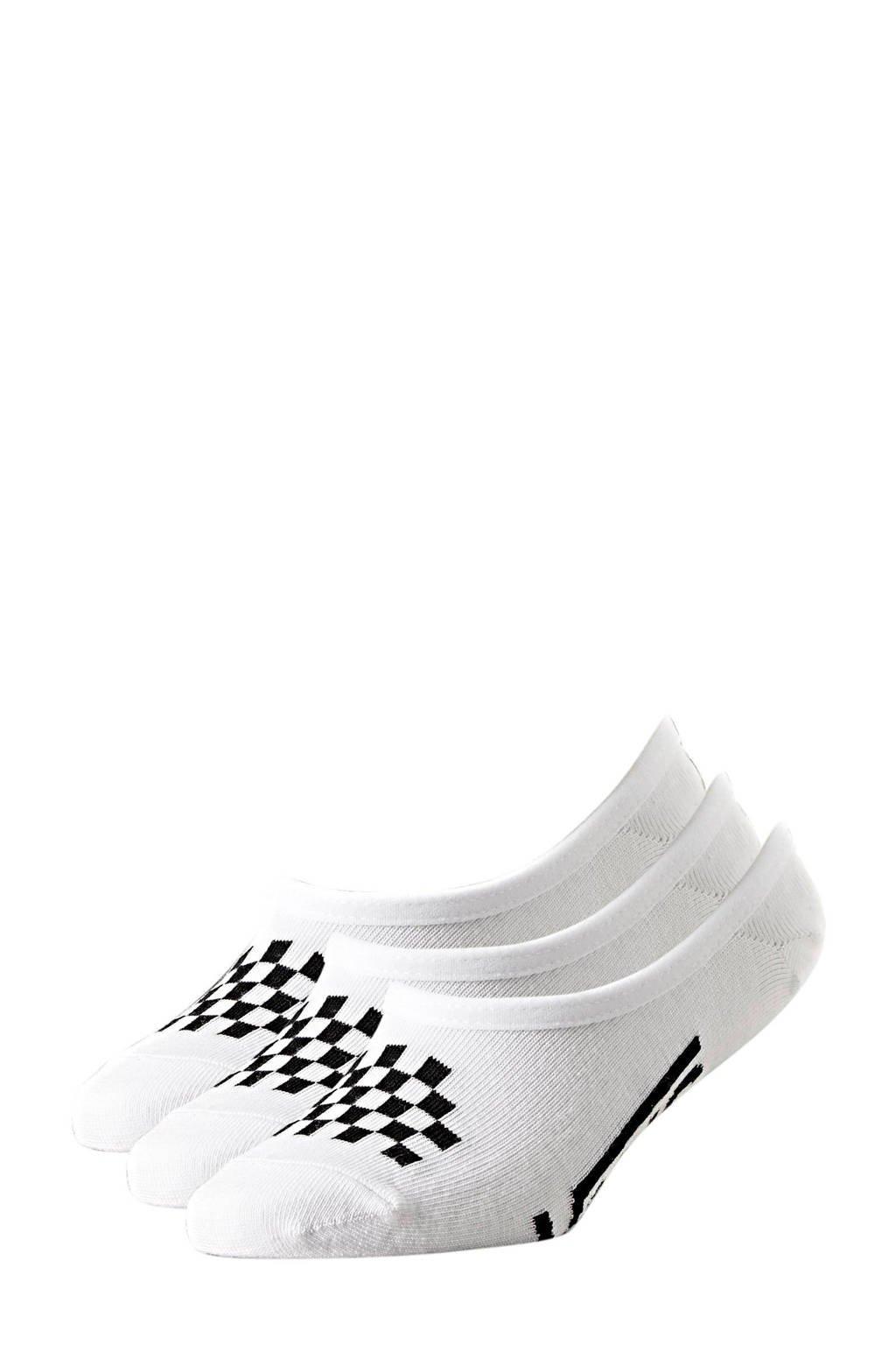 VANS sneakersokken - set van 3 wit, Wit/zwart