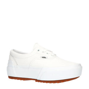 Era Stacked suède plateau sneakers wit