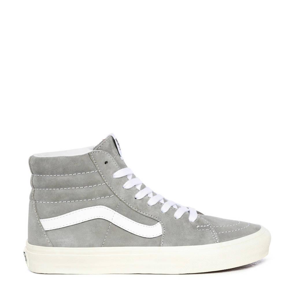 VANS SK8-Hi  suede sneakers grijs/wit, Grijs/wit