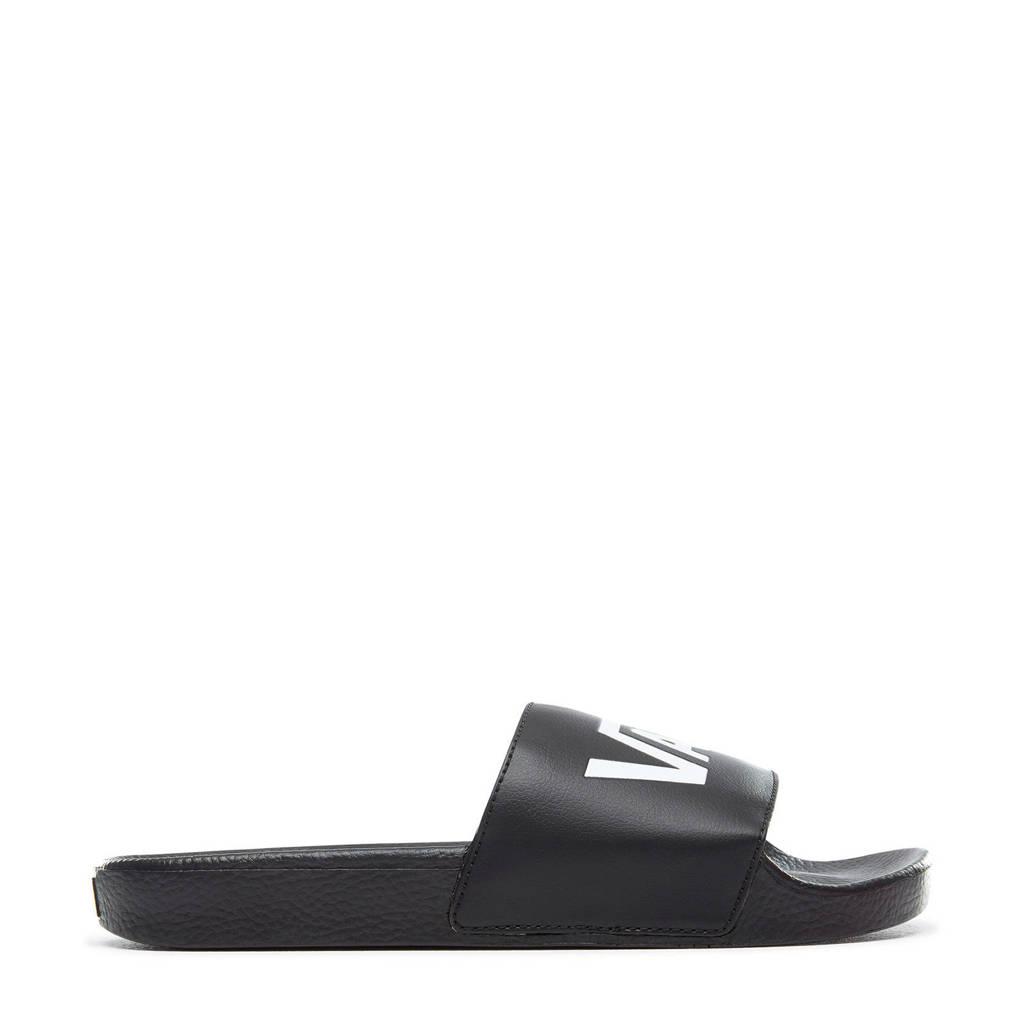VANS Slide On  badslippers zwart, Zwart/iwt