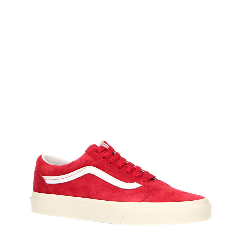 VANS Old Skool  suède sneakers rood, Rood/wit