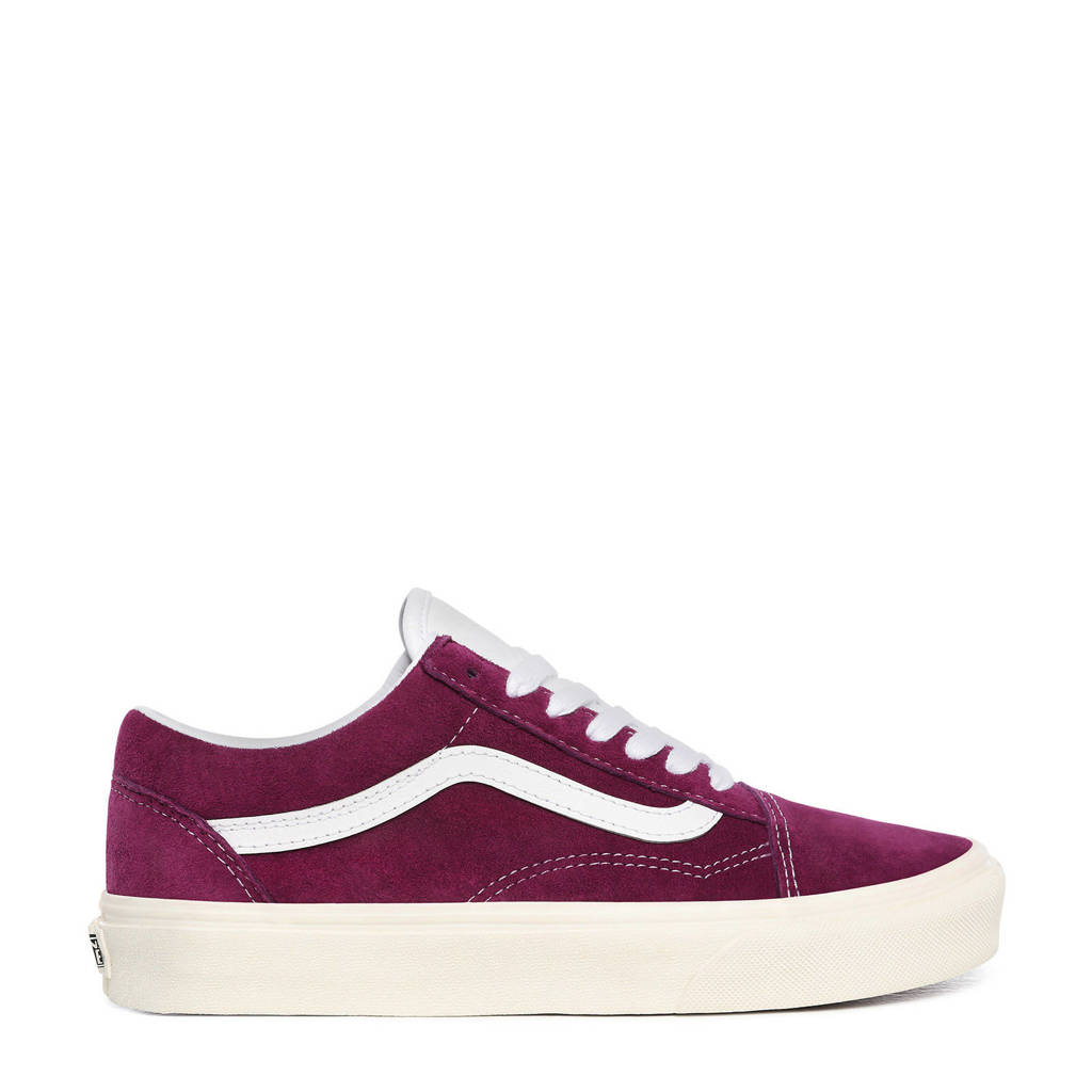 VANS Old Skool  suede sneakers donkerrood/wit, Donkerrood/wit