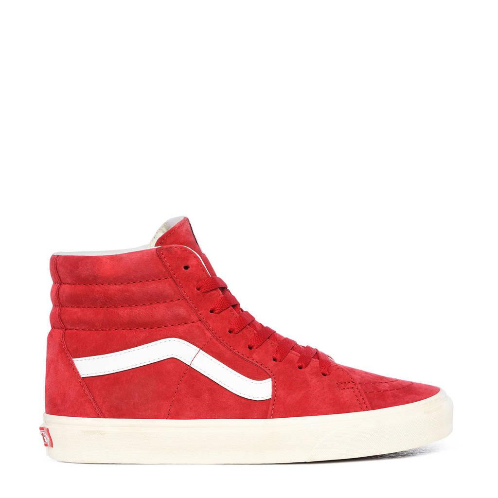 VANS SK8-Hi  suede sneakers rood/wit, Rood/wit