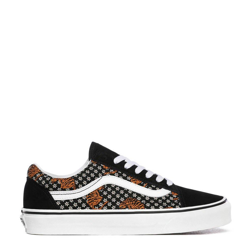 VANS Old Skool  sneakers met tijgerprint wit, Zwart/wit/bruin