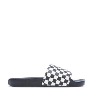 Slip On  Checkerboard badslippers zwart/wit