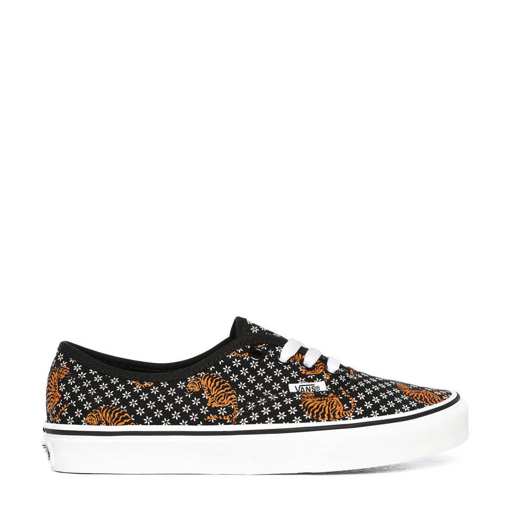 VANS UA Authentic  sneakers met tijgerprint zwart, Zwart