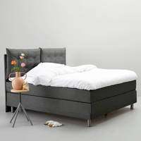 whkmp's own complete boxspring Memphis (180x200 cm), Donkergrijs