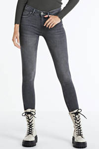 ONLY high waist skinny jeans ONLKENDELL medium grey denim, Grijs