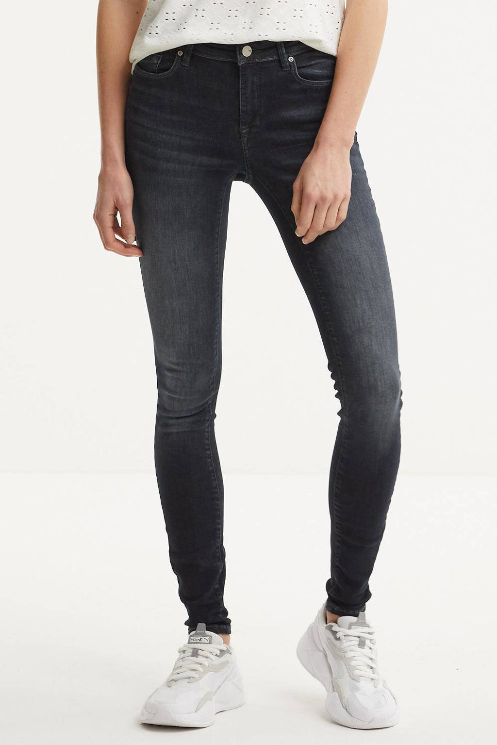 ONLY skinny jeans ONLSHAPE black denim, Black denim